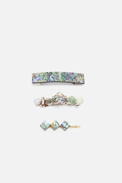 Pack of Abalone Shell Hair Pins