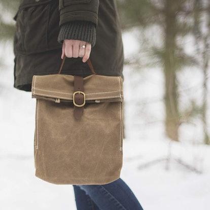 Sona Canvas Bags Waxed Lunch Bag