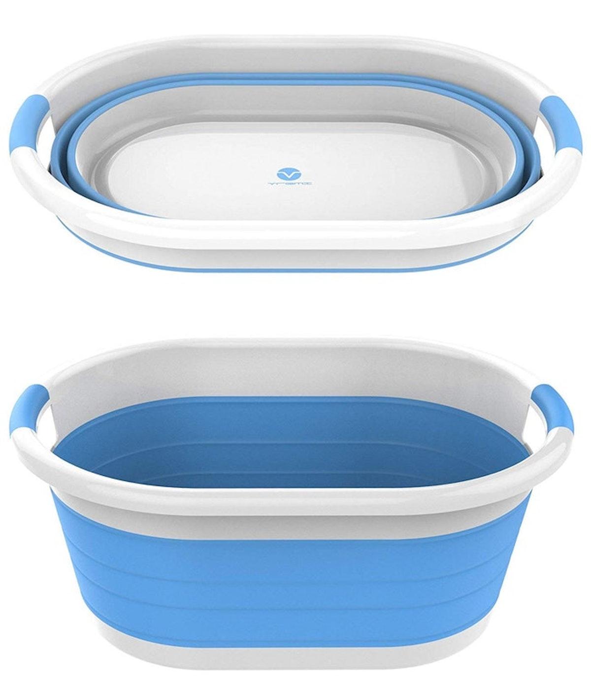 Vremi Collapsible Plastic Laundry Basket