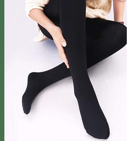 New Ladies Black Wine Navy Grey Warm Thick Winter Thermal Fleece Lined Leggings