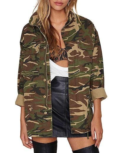ASMAX HaoDuoYi Women's Camo Jacket