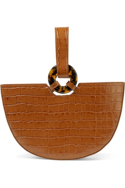 L'AFSHAR Ela croc-effect leather tote
