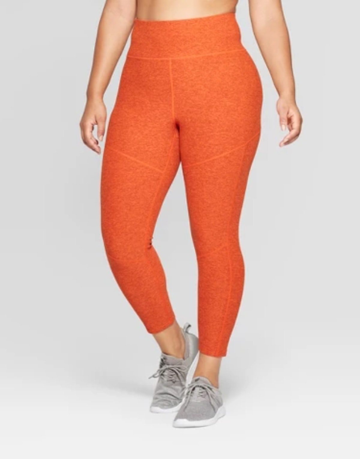 Women's Plus Mini Stripe 7/8 High-Waisted Leggings - JoyLab