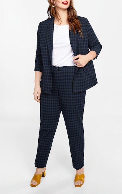 Check Structured Blazer & Straight Trousers