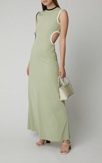 Fran Cutout Stretch-Knit Maxi Dress