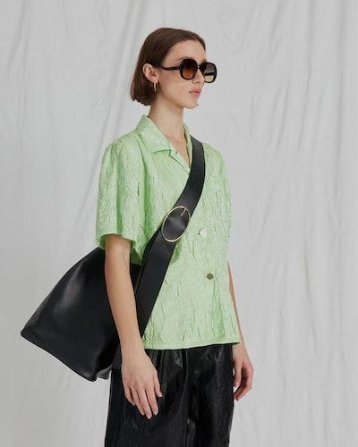 Mila Shirt Crinkle Lime