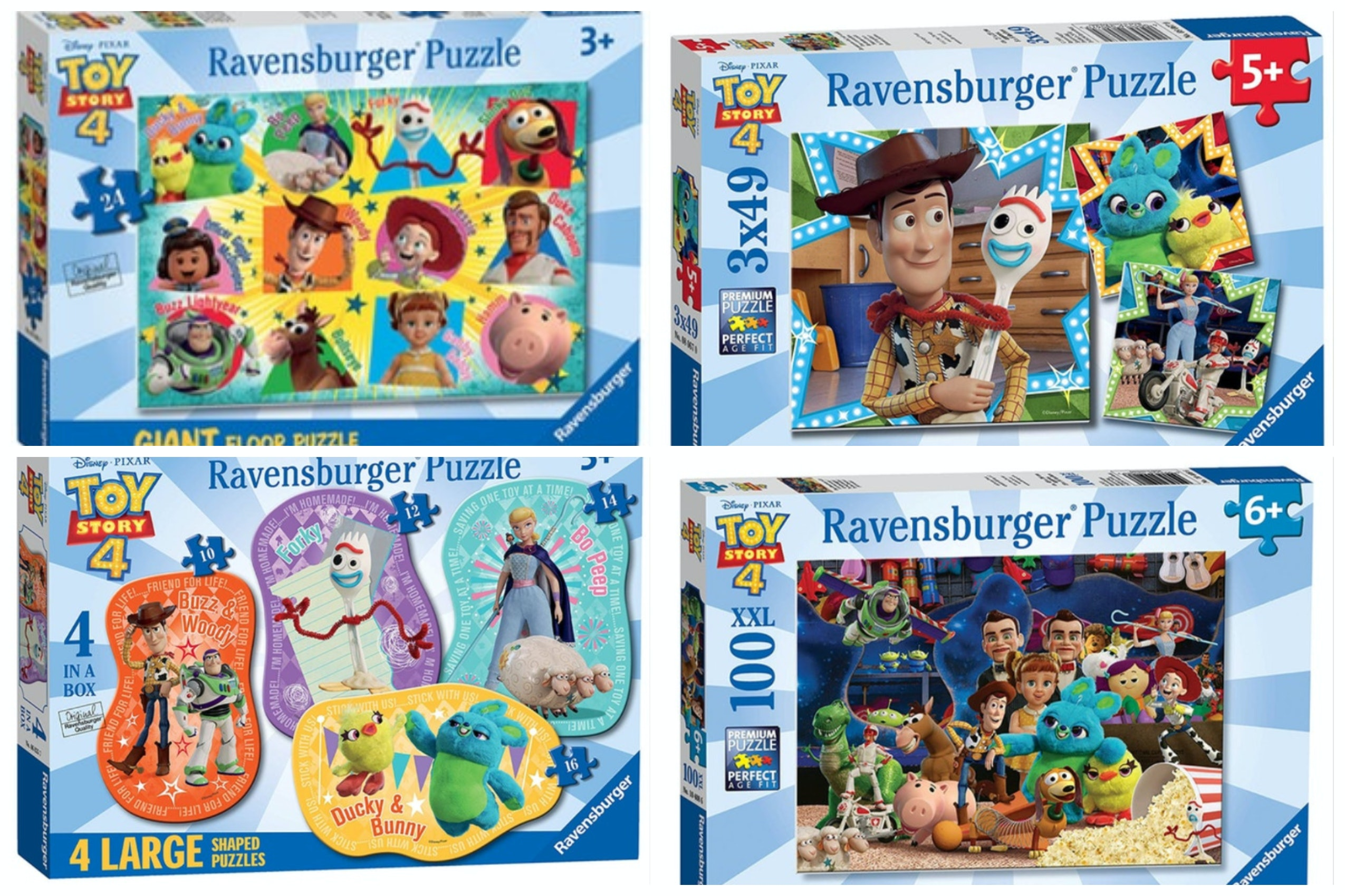 CHILDRENS DISNEY BIG HERO 6 3 X 49 PIECE JIGSAW PUZZLES RAVENSBURGER