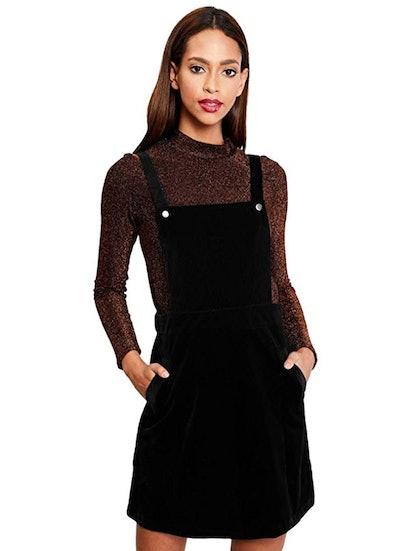 Romwe Women's Corduroy Overall Dress