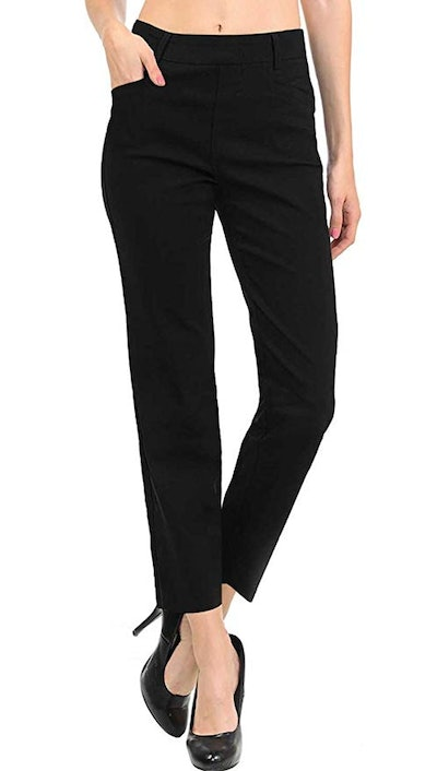 VIV Collection Women's Straight Fit Trouser Pull-On Pants