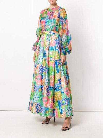 Floral Scarf Tie Dress