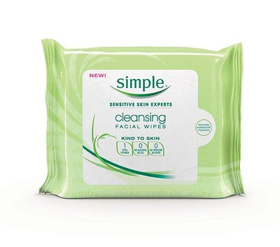 Simple Kind To Skin Cleansing Facial Wipes (2 Pack)