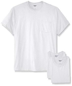 Jerzees Short Sleeve Pocket T-Shirts (Pack of 3)