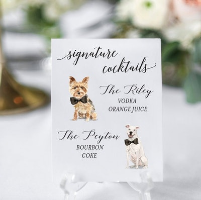 Dog Signature Cocktails Sign