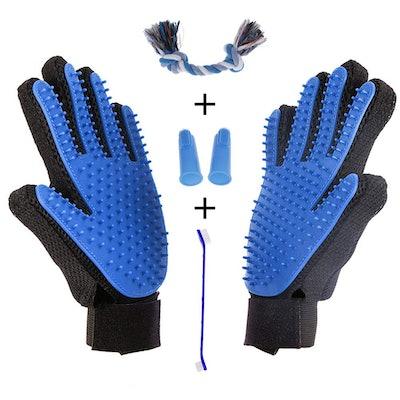 Aubbc Pet Grooming Glove 5-Piece Set
