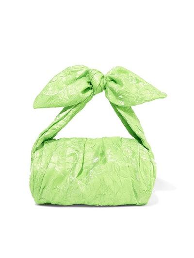 Nane Crinkled-Satin Shoulder Bag