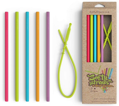 Softy Straws Silicone Straws (5 Pack)
