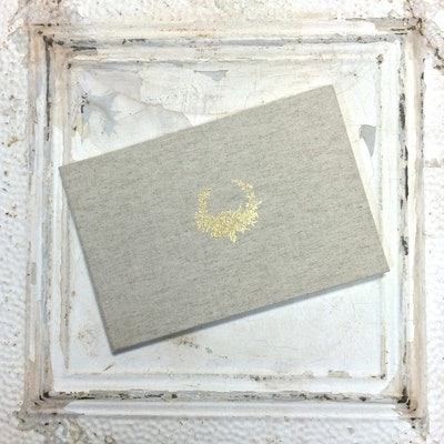 Personalized Linen Guest Book