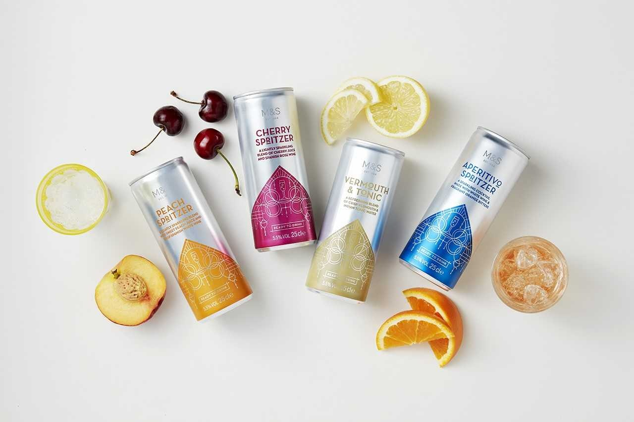 M&S' 4 New Cocktail Cans Were Made For Lazy Summer Days & I