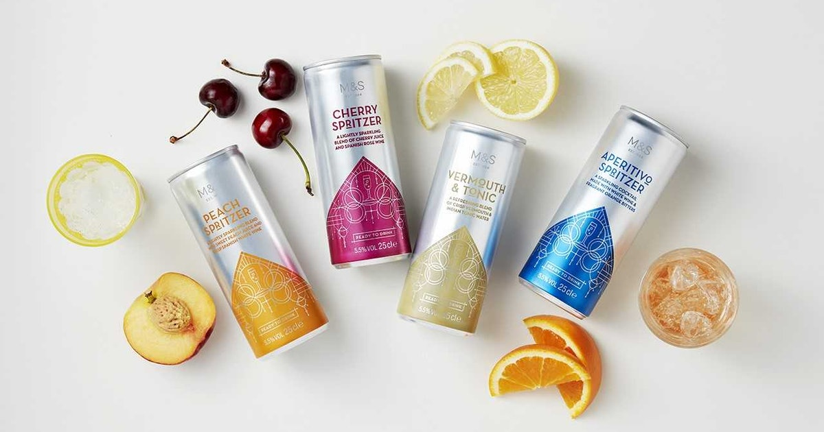 M&S' 4 New Cocktail Cans Were Made For Lazy Summer Days & I'll Race You To The Till