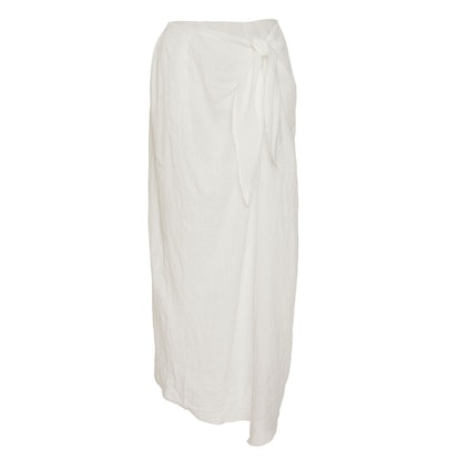 Ramie Linen Wrap Skirt