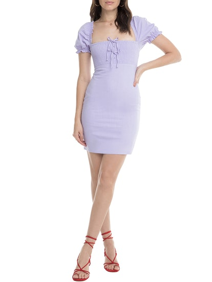 Bea Square Neck Minidress