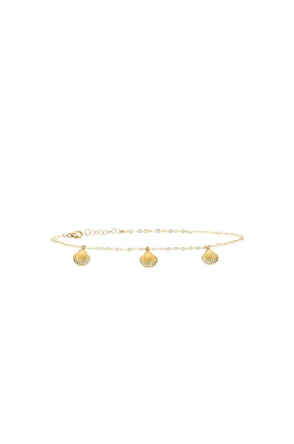 3 Shell Anklet  EIGHT by GJENMI JEWELRY