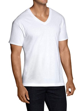 Fruit of the Loom Men's Stay Tucked V-Neck (Pack of 6)