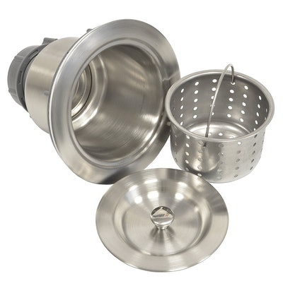 Coflex Extra Deep Cup Sink Basket Strainer with Sealing Lid