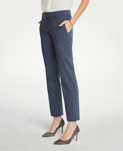 The Straight Pant in Linen Blend