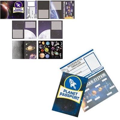 Outer Space Passport Sticker Books