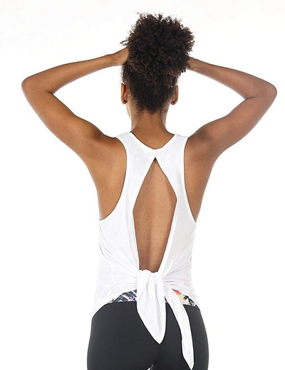 icyzone Open Back Workout Top