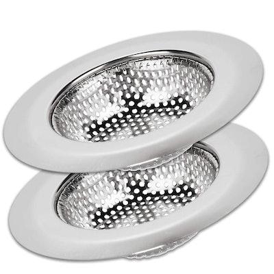 Solid Kitchen Sink Strainer Basket Catcher (Pack of 2)
