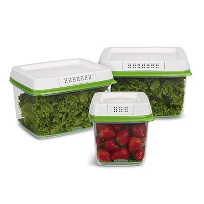 Rubbermaid FreshWorks Produce Saver Food Storage Containers (3 Pack)