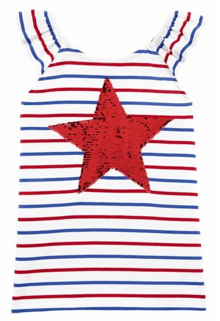 Stars & Stripes Flip Sequin Top