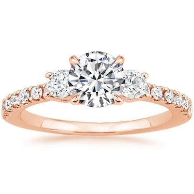 14K Rose Gold Radiance Diamond Ring