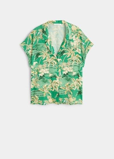 Tropical Print Blouse