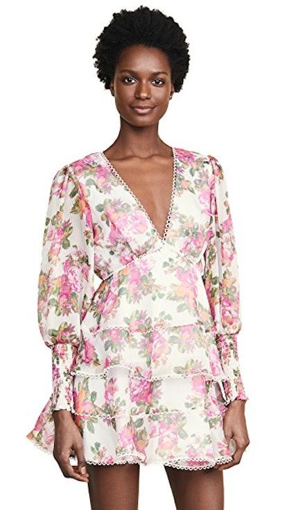 Oblivion Mini Dress in Ivory Rose Floral
