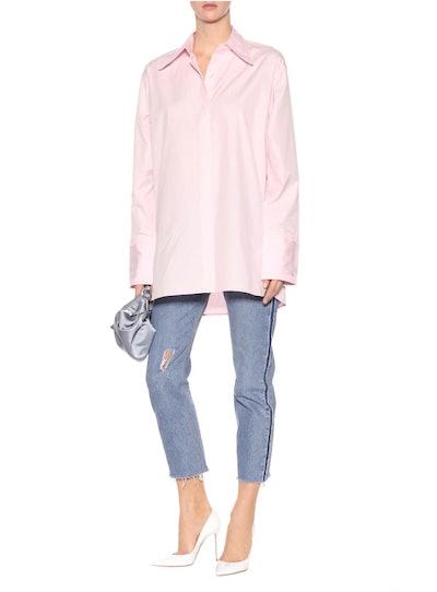 Cutout Cotton Shirt
