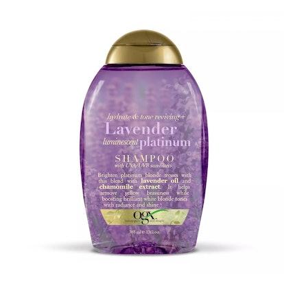 OGX Hydrate & Tone Reviving + Lavender Luminescent Platinum Shampoo