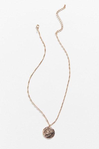 Burnished Lion Pendant Necklace