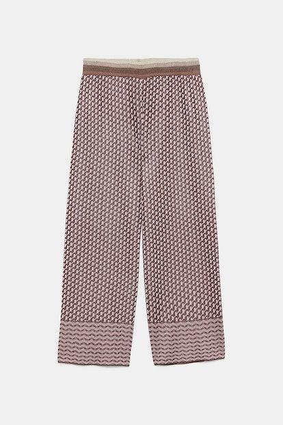 Printed Knit Pants