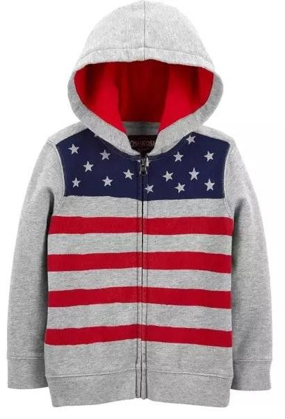 OshKosh BGosh Baby Boys Patriotic Flag Shortalls Size - 24 Months