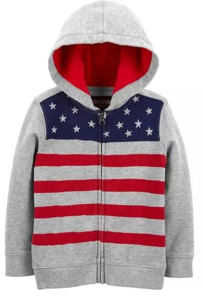 French Terry Flag Hoodie