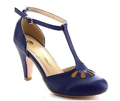 Chase & Chloe New Kimmy T-Strap Heels