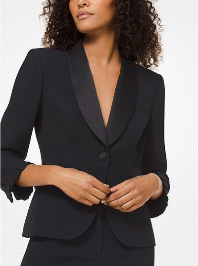 Double Crepe-Sablé Tuxedo Jacket