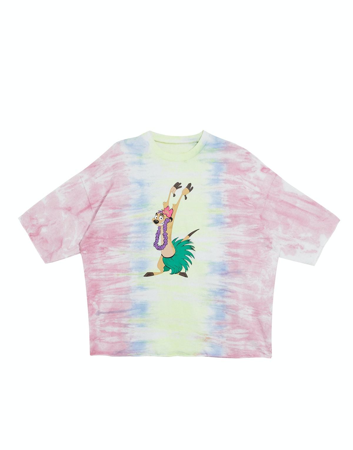 Oversized T-Shirt in Tye Dye Timon Print