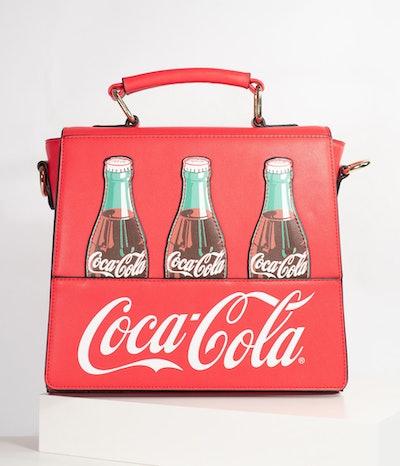 Red Leatherette Classic Coke Bottle Purse