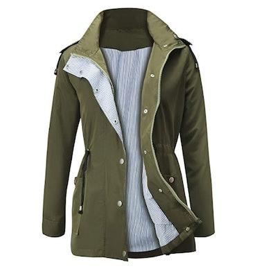 FISOUL Waterproof Lightweight Rain Jacket