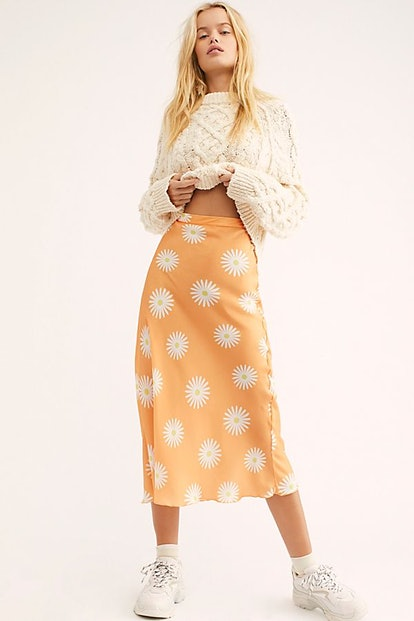 Kendall Satin Midi Skirt