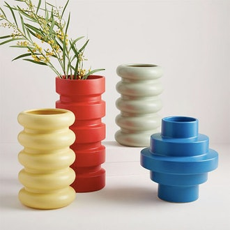 Stepped Form Ceramic Vases
